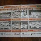 Baltimore Sun Memorial Stadium Baltimore Orioles Championship Teams (1991)