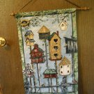 Hanging Wall Decor Birdhouse Tapestry with Wooden Dowel (BLB1)