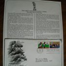 1980 Summer Olympic Games Running Swimming Postal Commemorative Society First Day Cover Sheet 1980