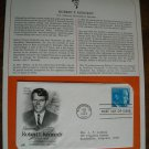 Honoring Robert F. Kennedy 1979 Postal Commemorative Society First Day Cover Sheet
