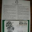 American Architecture 1979 Postal Commemorative Society First Day Cover Sheet