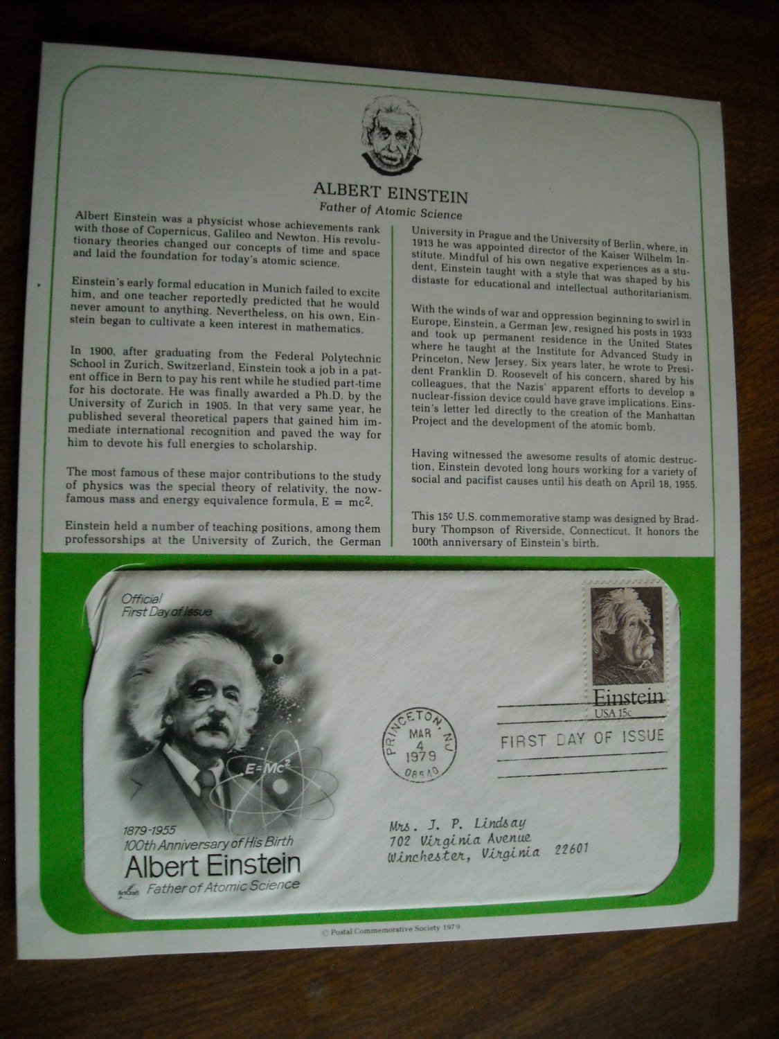 essay on albert einstein life In the first of three papers einstein wrote in 1905, he examined the discovery by max planck planck stated that electromagnetic energy seemed to be emitted.