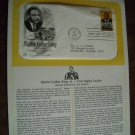 Honoring Martin Luther King 1979 Postal Commemorative Society First Day Cover Sheet