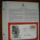 The Metropolitan Opera Centennial 1883-1983 Postal Commemorative Society First Day Cover Sheet