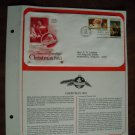 Season's Greetings Christmas 1983 Postal Commemorative Society First Day Cover Sheet