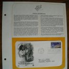 A Tribute to Public Hospitals 1986 Postal Commemorative Society First Day Cover Sheet