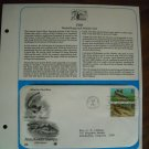 Fish Booklet Stamps Muskellunge/ Cod 1986 Postal Commemorative Society First Day Cover Sheet
