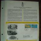 Battles of Viginia Capes and Yorktown 1981 Postal Commemorative First Day Cover Sheet