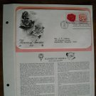 Flowers of America Rose and Camellia 1981 Postal Commemorative First Day Cover Sheet