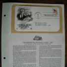 George Bush Inauguration Day January 20 1981 Postal Commemorative First Day Cover Sheet