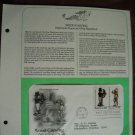 Wood Carving 1986 Postal Commemorative Society First Day Cover Sheet