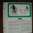 State Birds and Flowers of America 1982 Postal Commemorative Society First Day Cover Sheet