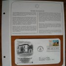 Touro Synagogue Newport Rhode Island 1982 Postal Commemorative Society First Day Cover Sheet