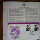 The Christening of Prince William of Wales 1982 Postal Commemorative Society First Day Cover Sheet