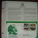 Christmas 1982 Season's Greetings 1982 Postal Commemorative Society First Day Cover Sheet