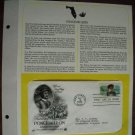 Honoring Ponce de Leon 1982 Postal Commemorative Society First Day Cover Sheet
