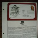 Honoring Douglas Fairbanks 1984 Postal Commemorative Society First Day Cover Sheet