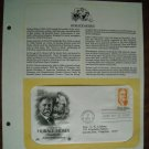 Tribute to Horace Moses Junior Achievement 1984 Postal Commemorative Society First Day Cover Sheet