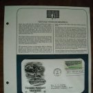 Vietnam Veterans Memorial 1984 Postal Commemorative Society First Day Cover Sheet