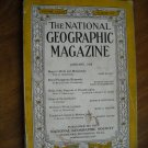 National Geographic January 1938 Vol. LXXIII No. One - Magyar / Ships / Japan
