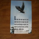 Eagle Inspirational Religious Scripture Postcard Isaiah 40:31 (1996)