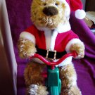 Avon Cycling Santa Bear In Original Box Avon 1997