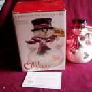 """Gift Gallery Fitz and Floyd Christmas Giftware Snowman Luminary """"Let it Snow"""" Tea Candle 2004"""