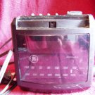 GE Vintage AM/FM Clock Radio Model 7-4606BKA Black (GB1)