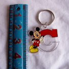 Mickey Mouse Leaning on Letter C Acrylic Keychain (wtn216)