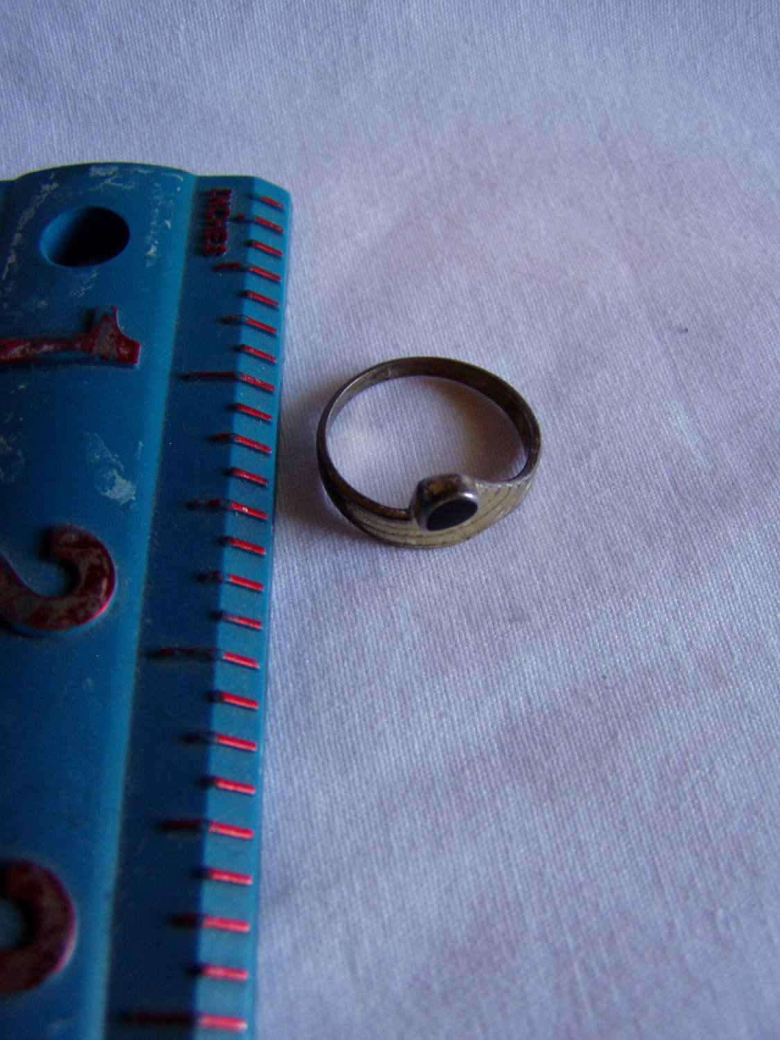 Sterling Silver With Black Onyx Vintage Size 5 5 Ring R 18