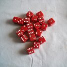 20 pc Red Dice with White Numbering (OBS1) (WTNM8)