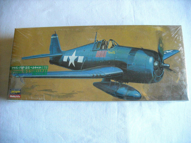 Hasegawa Grumman F6F-3/5 Hellcat 1:72 NIP Model Kit No. 617-600 38 pc. (mw)