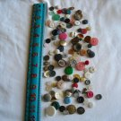 Lot of 100 Assorted Buttons Assorted Sizes and Styles Great for Crafts (WTNM15)