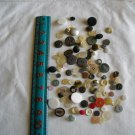Lot of 100 Assorted Buttons Assorted Sizes and Styles Great for Crafts (WTNM16)