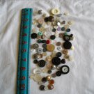 Lot of 100 Assorted Buttons Assorted Sizes and Styles Great for Crafts (WTNM19)