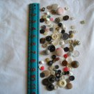 Lot of 100 Assorted Buttons Assorted Sizes and Styles Great for Crafts (WTNM21)