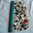 Lot of 100 Assorted Buttons Assorted Sizes and Styles Great for Crafts (WTNM22)