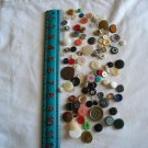 Lot of 100 Assorted Buttons Assorted Sizes and Styles Great for Crafts (WTNM23)