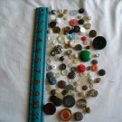 Lot of 100 Assorted Buttons Assorted Sizes and Styles Great for Crafts (WTNM24)