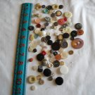 Lot of 100 Assorted Buttons Assorted Sizes and Styles Great for Crafts (WTNM28)