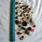 Lot of 100 Assorted Buttons Assorted Sizes and Styles Great for Crafts (WTNM37)