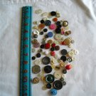 Lot of 100 Assorted Buttons Assorted Sizes and Styles Great for Crafts (WTNM38)