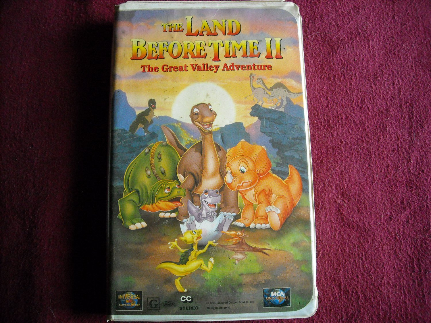 The Land Before Time II: The Great Valley Adventure (VHS) Animated