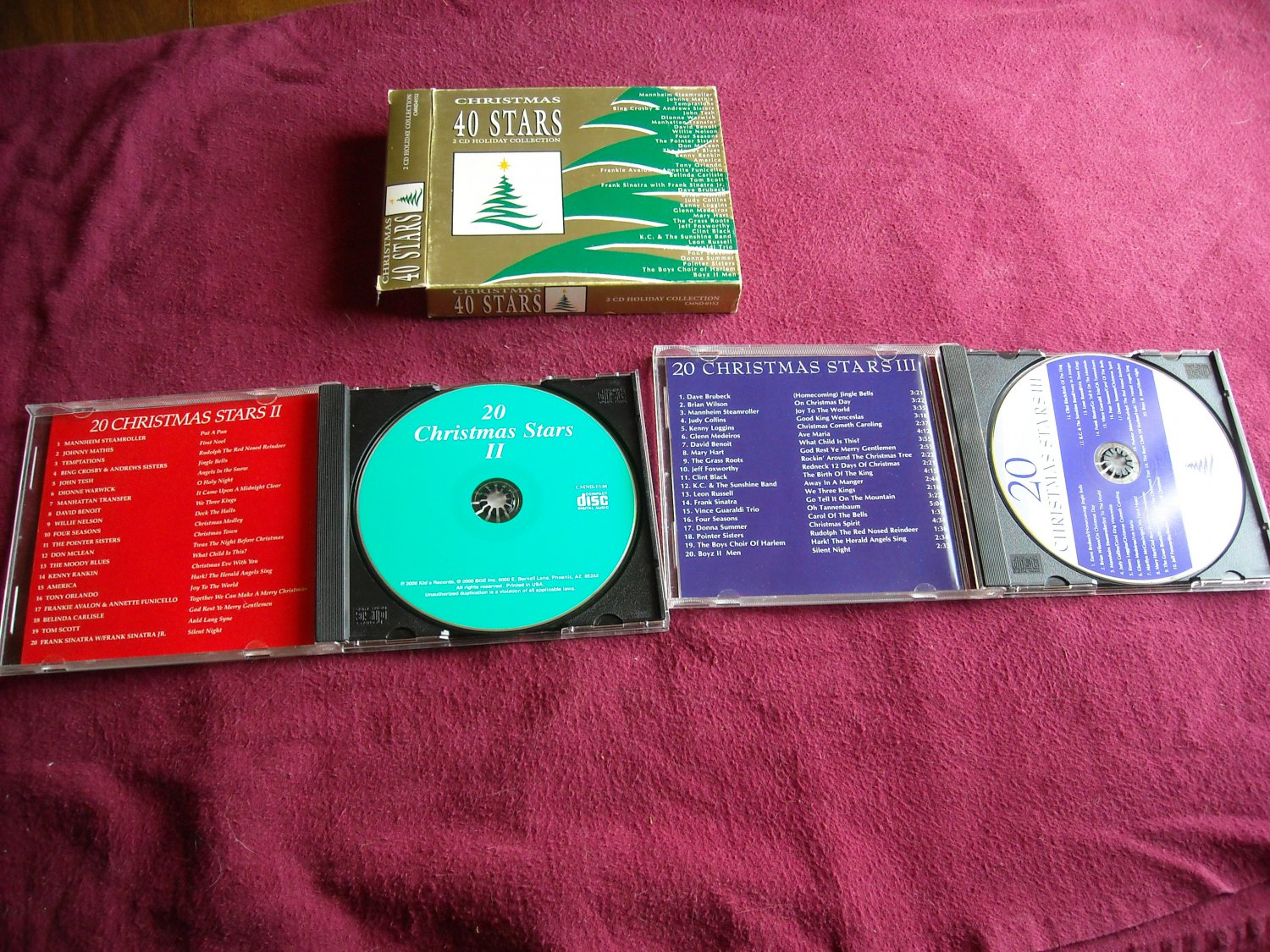 Christmas 40 Stars 2 CD Holiday Collection Music