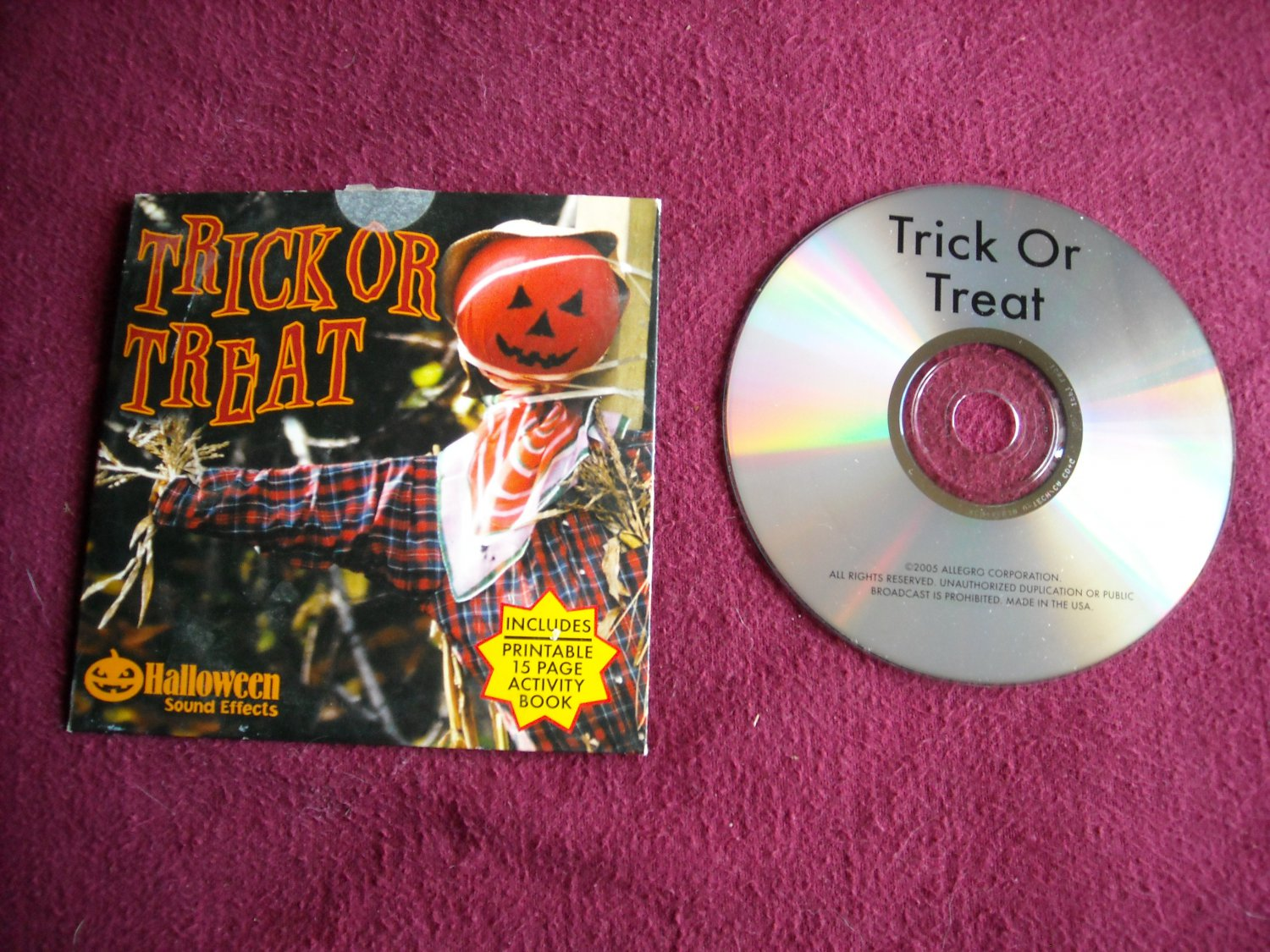 Trick or Treat Halloween Sound Effects with Printable 15 page Activity Book