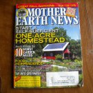 Mother Earth News Self Sufficient One Acre Homestead August / September 2011 Issue 247