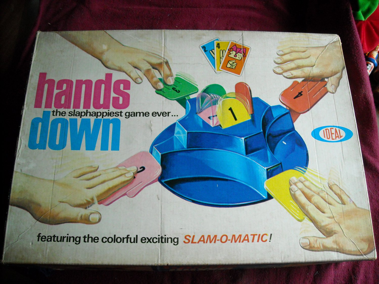 Hands Down Game 1964 Ideal with SLAM-O-MATIC All Parts are There