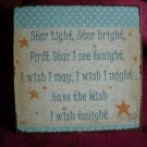 Metal Wall Sign - Star Light Star Bright Poem from Childhood