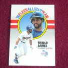 Harold Baines Rangers Designated Hitter Card No. 1 - '90 1990 Fleer All Star Team Baseball Card