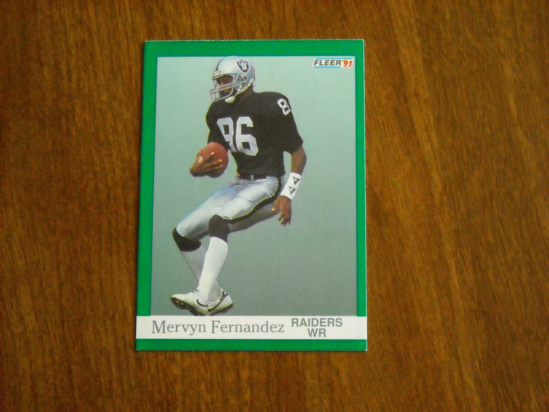 Mervyn Fernandez Los Angeles Raiders  106 - 1991 Fleer Football Card 8f17a0a48